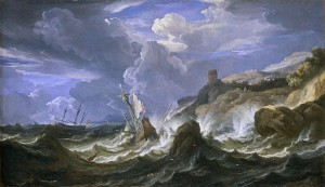 Pieter Mulier | A Ship Wrecked in a Storm off a Rocky Coast