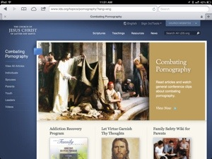 combatingpornography.org homepage Jesus heals at Bethesda