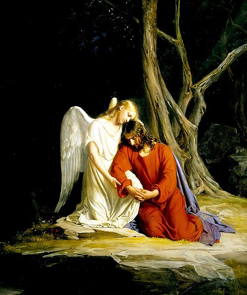 Jesus began to work out an Jesus Praying In Gethsemane Lds