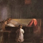 In addition to prayer, my recovery requires healthy interaction with others (Evening Prayer by Anna Ancher (1859-1935)).
