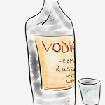 small vodka drawing
